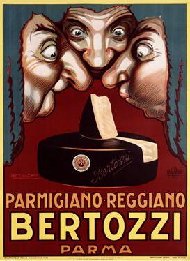 Parmigiano reggiano brand Bertozzi logo