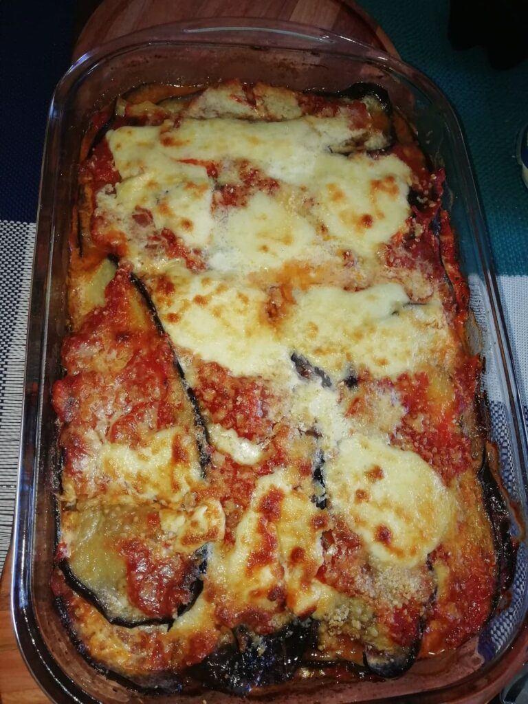 aubergine parmigiana, my own version